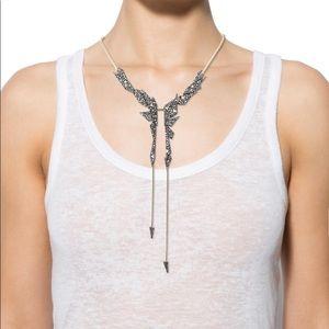 Alexis Bittar Crystal origami Shards bib necklace
